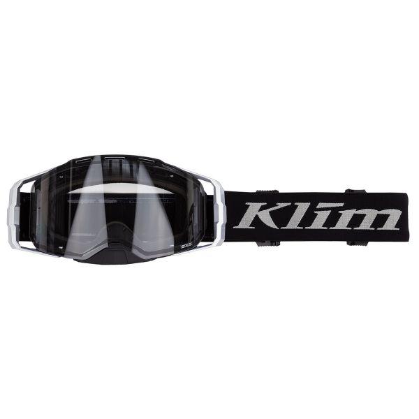 Ochelari MX-Enduro Klim Ochelari Moto MX Edge Focus Metallic Silver Clear Lens 2021