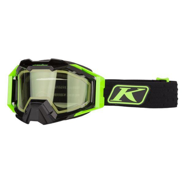 Ochelari Snowmobil Klim Ochelari Snow Viper Pro Elite Electrik Gecko Lt Green Tint 2021