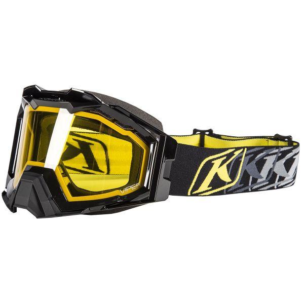 Ochelari Snowmobil Klim Ochelari Snow Viper Pro K Corp Bk/Yellow Tint 2020