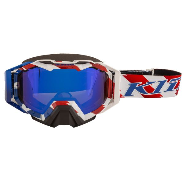 Ochelari Snowmobil Klim Ochelari Snow Viper Pro Patriot Pledge Dark Smoke Blue Mirror 2021