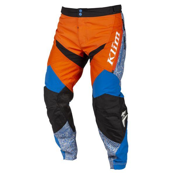 Pantaloni MX-Enduro Klim Pantaloni Dakar ITB Orange/Blue 2019