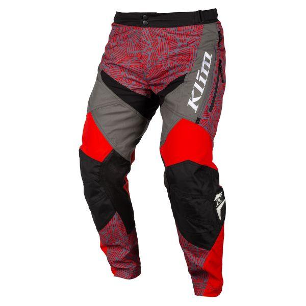 Pantaloni MX-Enduro Klim Pantaloni Dakar ITB Red 2019