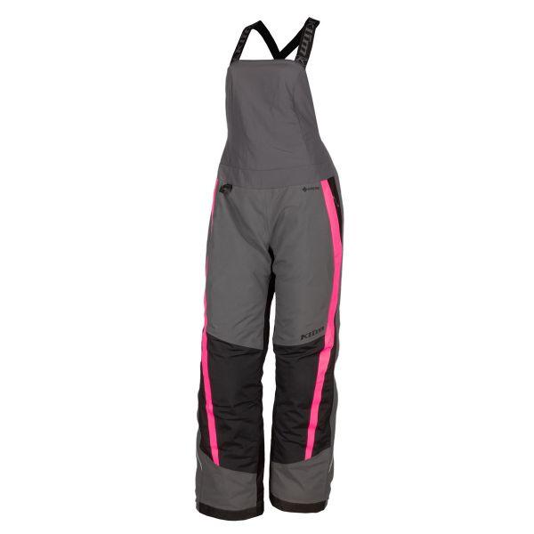 Pantaloni Snow - Dama Klim Pantaloni Dama Snow Insulated Strata Bib Asphalt - Knockout Pink 2021