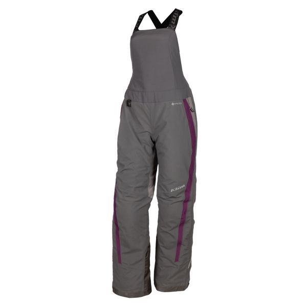 Pantaloni Snow - Dama Klim Pantaloni Dama Snow Insulated Strata Bib Short Asphalt - Deep Purple 2021
