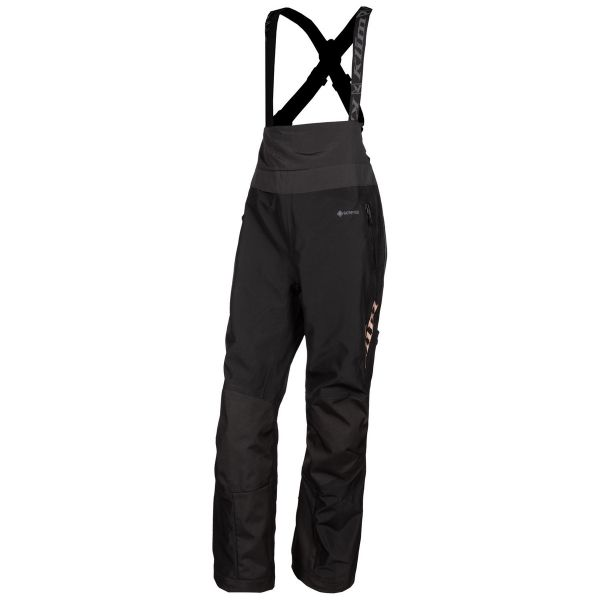 Pantaloni Snow - Dama Klim Pantaloni Dama Snow Non-Insulated Alpine Bib Tall Black Rose Gold 2021