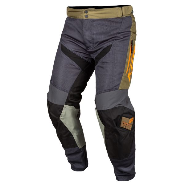 Pantaloni MX-Enduro Klim Pantaloni Moto MX Mojave In The Boot multicolor-portocaliu 2021