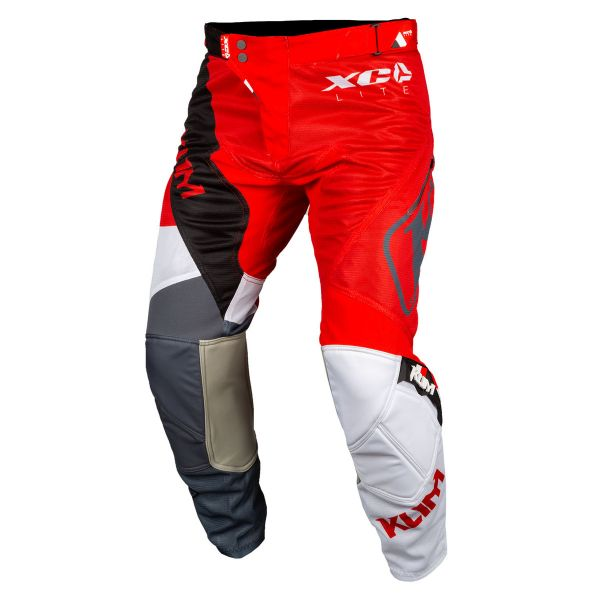Pantaloni MX-Enduro Klim Pantaloni Moto MX XC Lite multicolor-rosu 2021