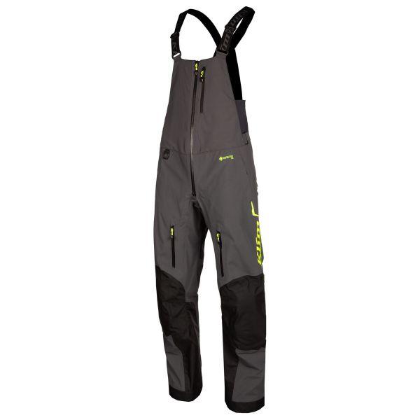 Pantaloni Snow Klim Pantaloni Snow Non-Insulated Togwotee Bib Short Asphalt Hi-Vis 2021