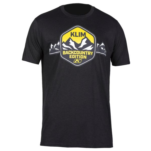 Tricouri/Camasi Casual Klim Tricou Backcountry Edition T Black/Yellow 2020