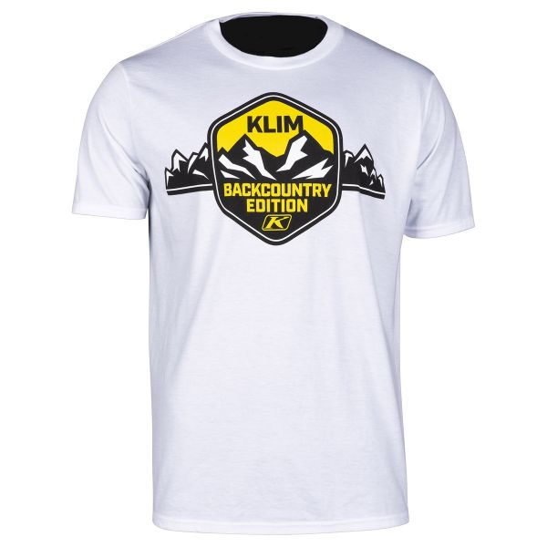 Tricouri/Camasi Casual Klim Tricou Backcountry Edition T White/Yellow 2020