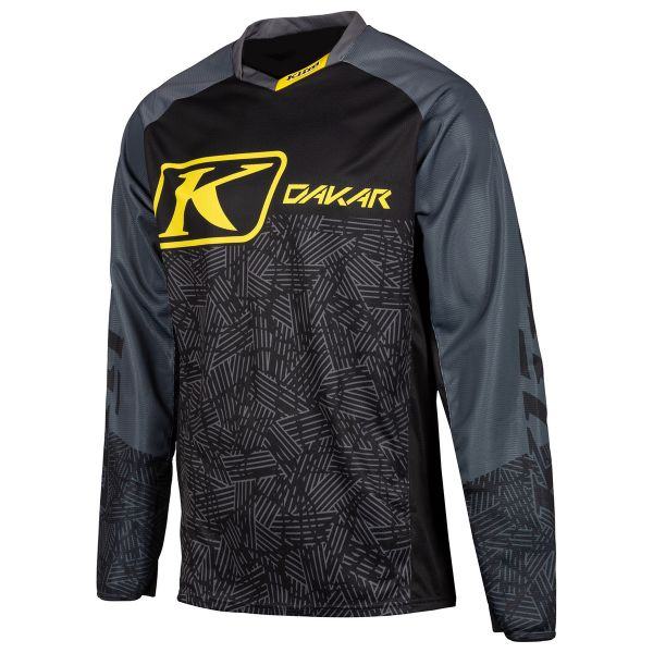 Tricouri MX-Enduro Klim Tricou Dakar Dark Gray 2019