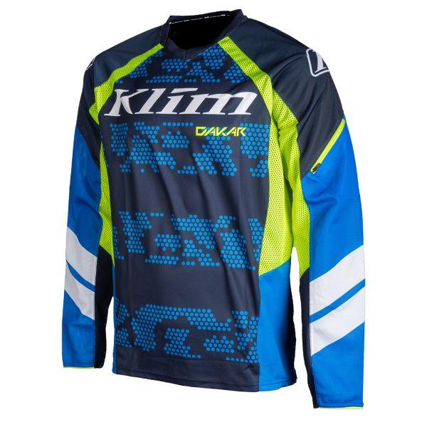 Tricouri MX-Enduro Klim Tricou Moto MX Dakar Kinetik Blue 2021