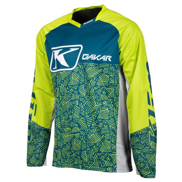 Tricouri MX-Enduro Klim Tricou Dakar Lime Blue 2019