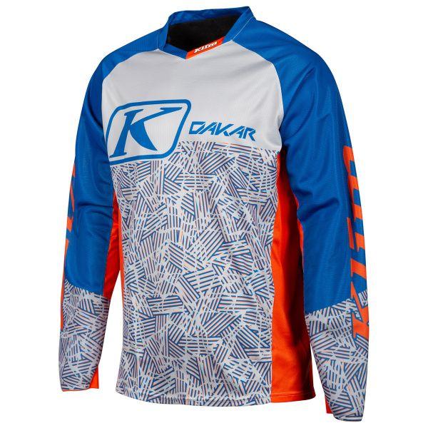 Tricouri MX-Enduro Klim Tricou Dakar Orange/Blue 2019
