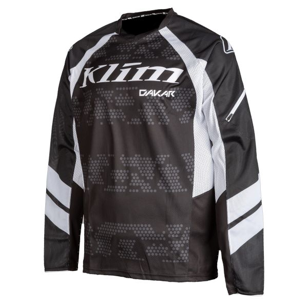 Tricouri MX-Enduro Klim Tricou Moto MX Dakar Stealth Black 2021