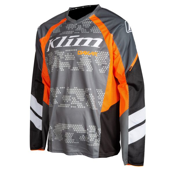 Tricouri MX-Enduro Klim Tricou Moto MX Dakar Striking Gray 2021