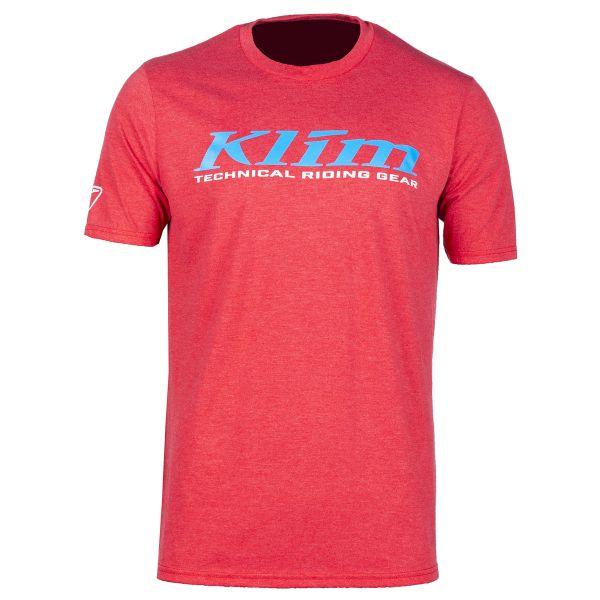 Tricouri/Camasi Casual Klim Tricou K Corp SS T Red Frost/Vivid Blue 2020