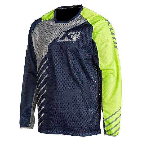 Tricouri MX-Enduro Klim Tricou Moto MX Mojave Vivid Blue 2021