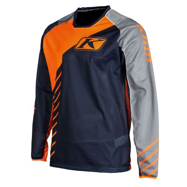 Tricouri MX-Enduro Klim Tricou Moto MX Mojave Striking Orange 2021