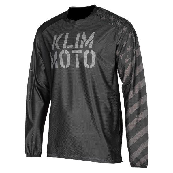 Tricouri MX-Enduro Klim Tricou Moto MX Petrol Black 2021