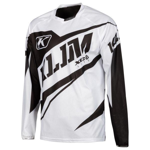 Tricouri MX-Enduro Klim Tricou XC Lite Black/White 2019