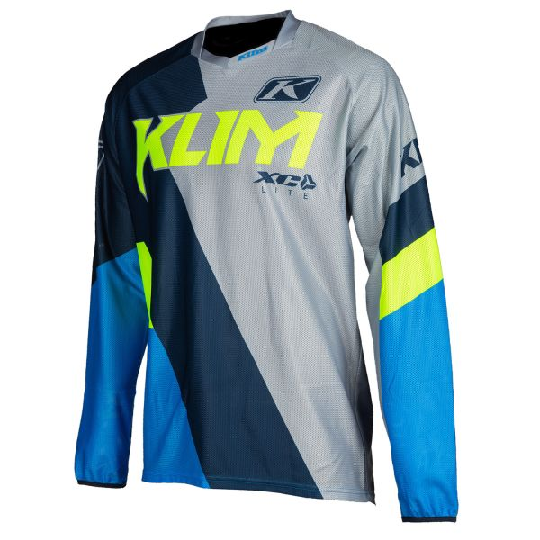 Tricouri MX-Enduro Klim Tricou Moto MX XC Lite Kinetik Blue 2021