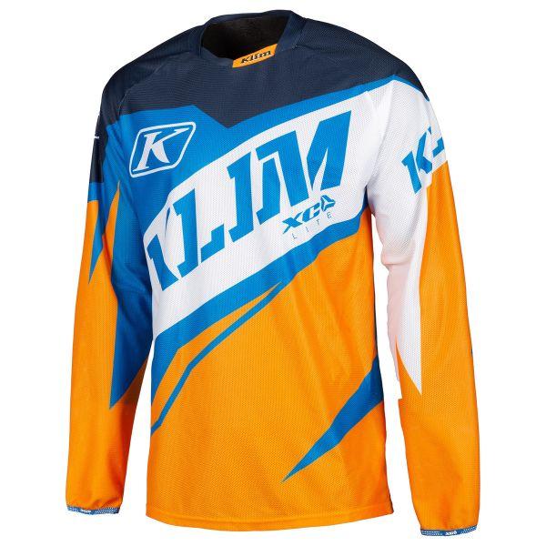 Tricouri MX-Enduro Klim Tricou XC Lite Orange/Blue 2019