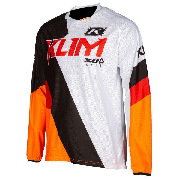 Tricouri MX-Enduro Klim Tricou Moto MX XC Lite Orange Krush 2021
