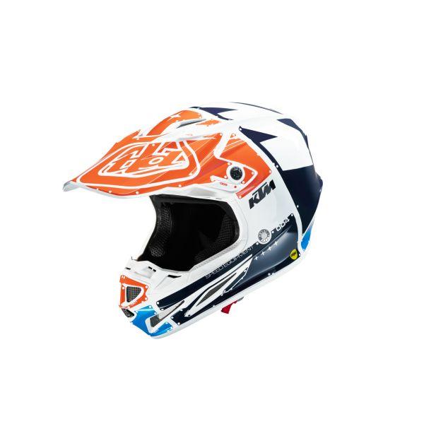 KTM Casca SE-4 White/Orange/Blue