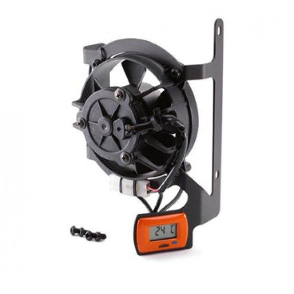 KTM Sistem Racire KTM Kit Ventilator Termostat Digital Portocaliu KTM 2T/4T 17-20