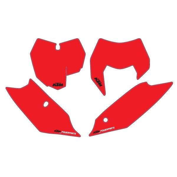 Grafice Moto KTM OEM Kit Stickere Number Plate KTM 14-16 Red