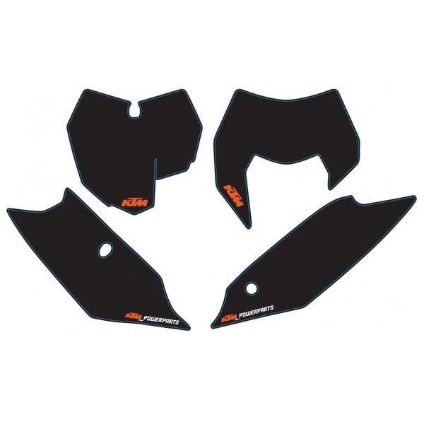 Grafice Moto KTM OEM Kit Stickere Number Plate KTM EXC 14-16 Black