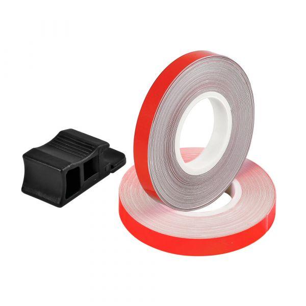 Accesorii Diverse Lampa Banda reflectorizanta pentru jante  Wheel Stripe Reflective Rosu