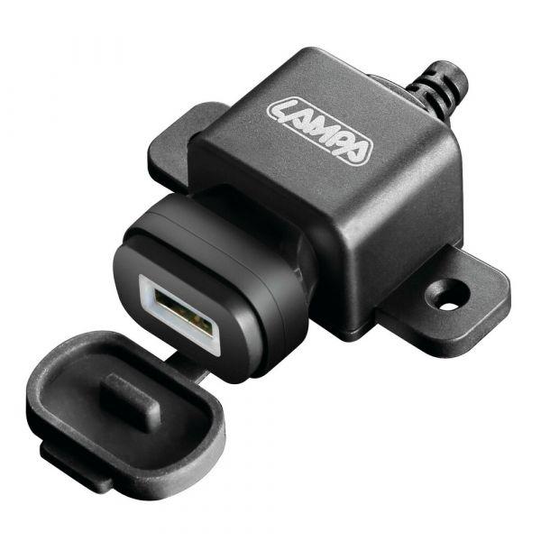 Suport Ghidon Telefon/GPS Lampa Incarcator USB prindere surub  Fix Omega