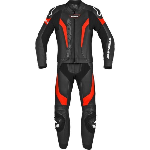 Combinezoane Moto Piele Spidi Combinezon Moto Piele Laser Touring Black/Red 2021