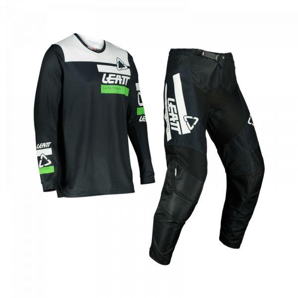 Combo MX Enduro Leatt Combo Pantaloni + Tricou Ride Moto 3.5 V22 Black/Green 2022