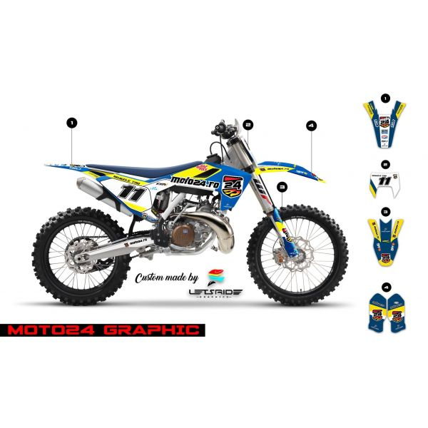 Graphics Lets Ride Moto24 Graphics Kit for Husqvarna