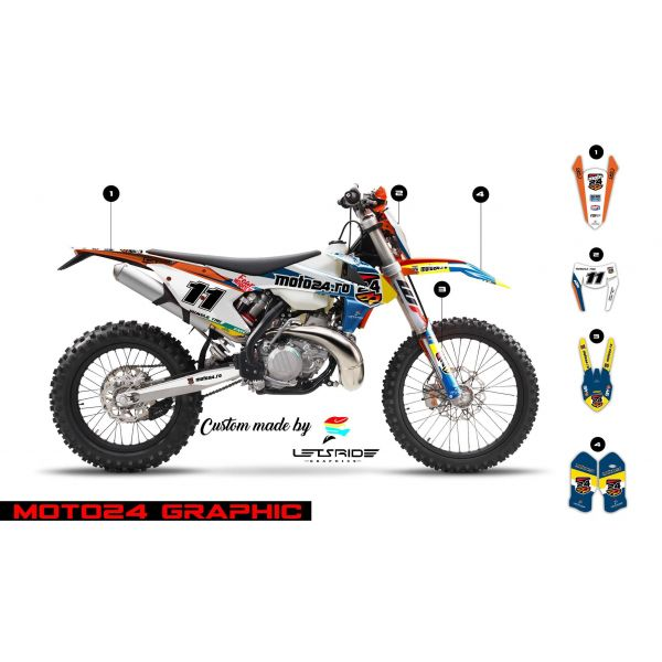 Graphics Lets Ride Moto24 Graphics Kit for KTM 2017-2018