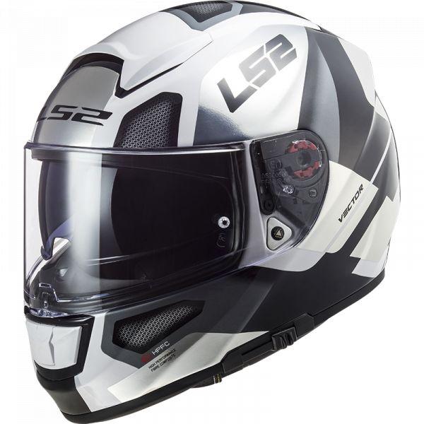 Casti Moto Integrale LS2 Casca Moto Full/Face FF397 Vector FT2 Automat Alb Lucios Titanium 2021