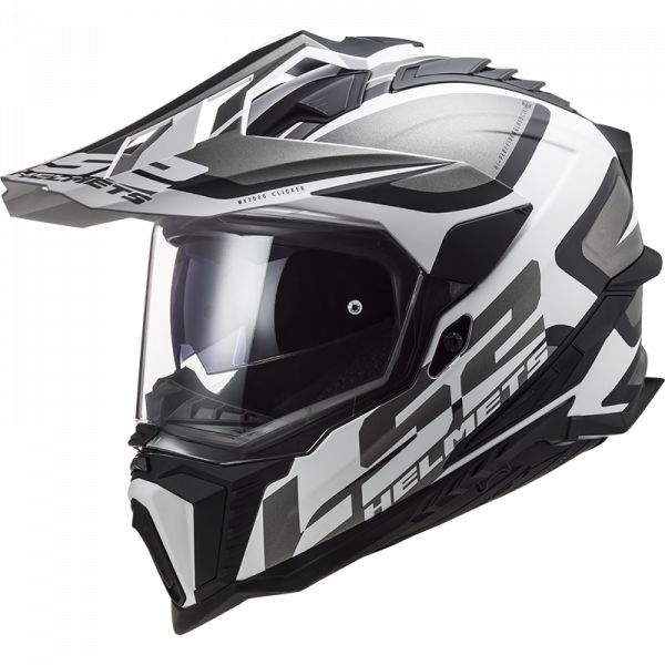 Casti ATV LS2 Casca ATV Explorer Alter MX701 Alb Negru Mat 2021