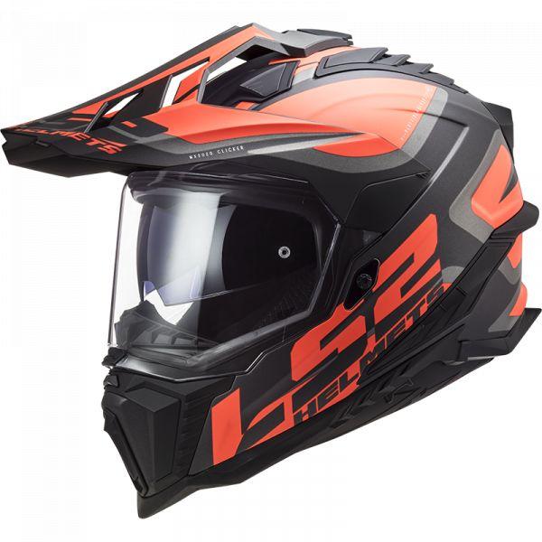 Casti ATV LS2 Casca ATV Explorer Alter MX701 Negru Portocaliu 2021
