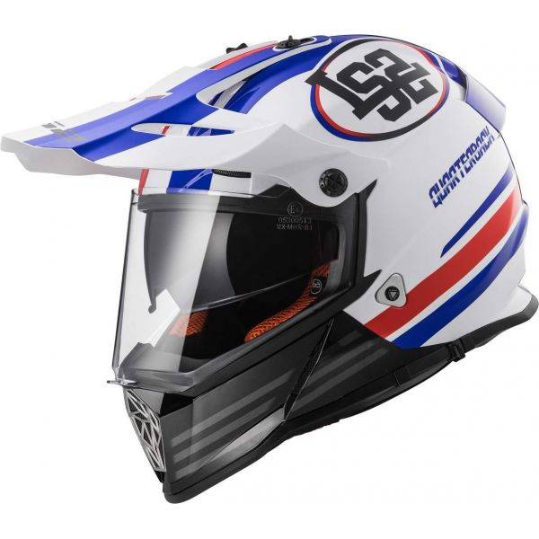 Casti ATV LS2 Casca ATV MX436 Pioneer Qarterback White/Red/Blue