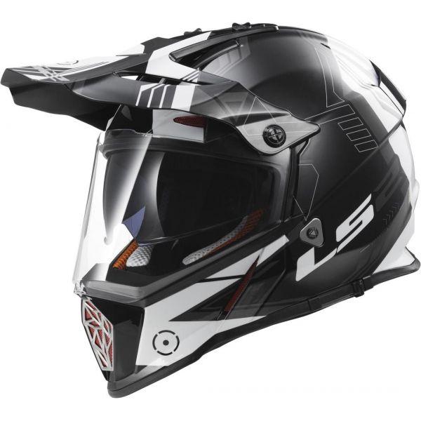 Casti ATV LS2 Casca ATV MX436 Pioneer Trigger Black/White