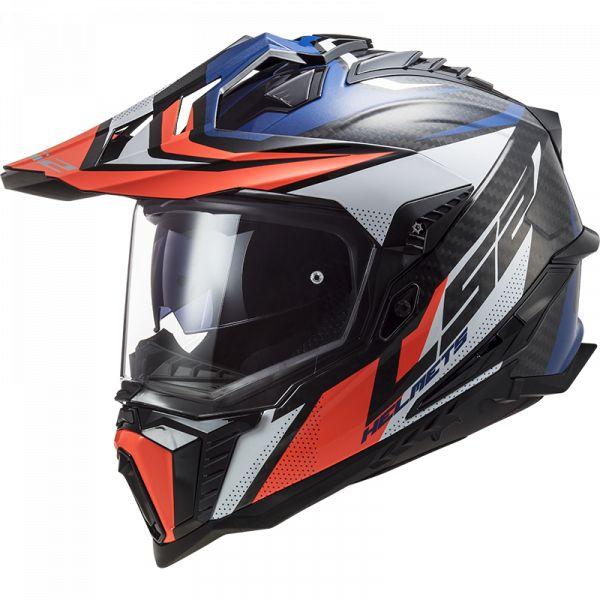 Casti ATV LS2 Casca ATV MX701 C Explorer Focus Rosu-Albastru 2021