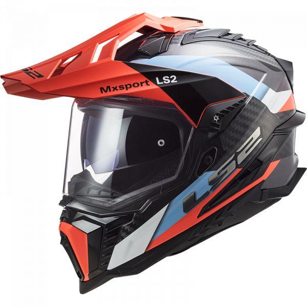 Casti ATV LS2 Casca ATV MX701 C Explorer Frotier Portocaliu Albastru  2021