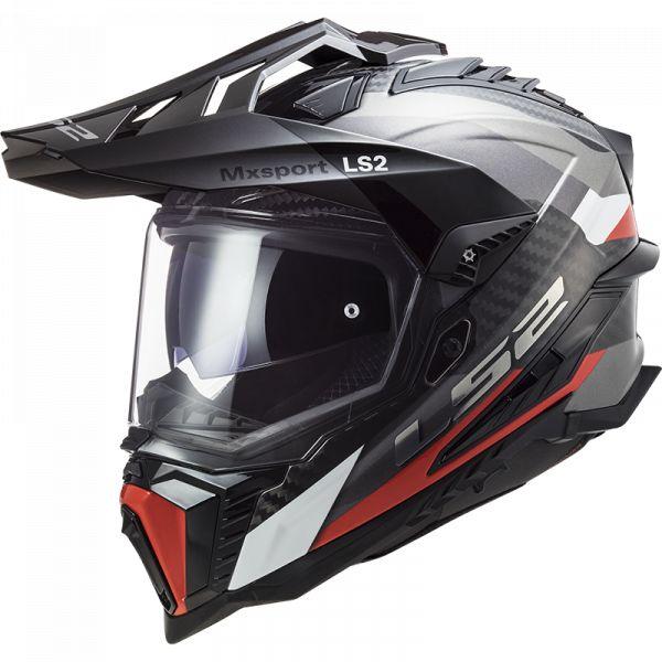 Casti ATV LS2 Casca ATV MX701 C Explorer Frotier Titanium Red 2021