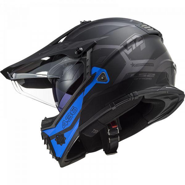 Casti ATV LS2 Casca ATV Pioneer Evo Cobra MX 436 Albastru- Negru 2021