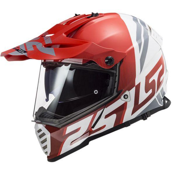 Casti ATV LS2 Casca ATV Pioneer Evo Evolve MX436 Alb- Rosu 2021