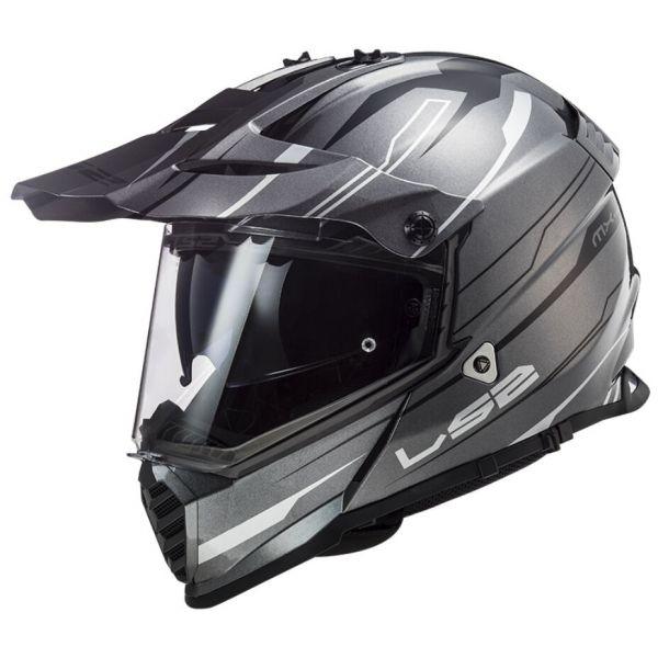Casti ATV LS2 Casca ATV Pioneer Evo Knight MX436 Alb Titanium 2021