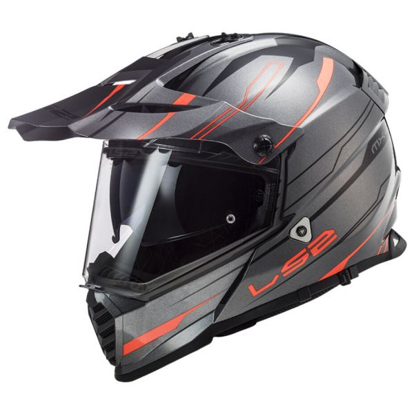 Casti ATV LS2 Casca ATV Pioneer Evo Knight MX436 Portocaliu Titanium 2021